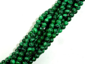Malachite Beads - Synthetic, Round, 5mm-BeadBasic