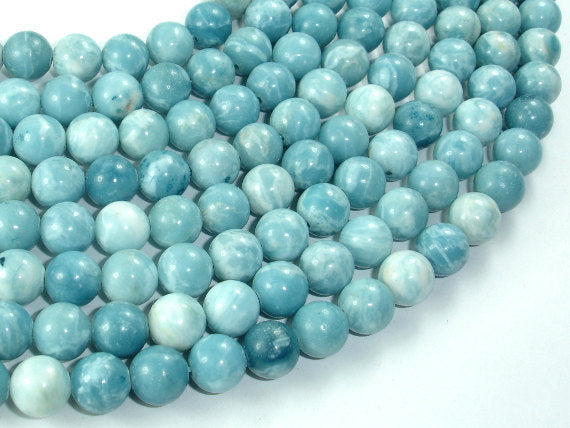 Larimar Quartz, 8mm Round-BeadBasic