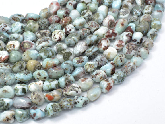 Larimar, Approx 6x8mm Nugget Beads, 16 Inch