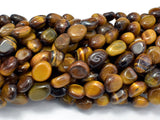 Tiger Eye, 6x8mm Nugget Beads, 15.5 Inch-BeadBasic