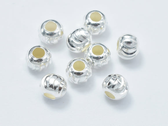 10pcs 5mm 925 Sterling Silver Beads, 5mm x 4.2mm Rondelle Beads-BeadBasic