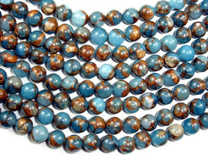 Mosaic Stone Beads, Round, 8mm-BeadBasic