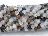 Agate Beads, 6mm Star Cut Faceted Round, 14 Inch-BeadBasic