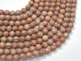 Pink Banded Jasper, 8mm, Round Beads-BeadBasic