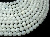 White Moonstone Beads, 6.5mm(6.8mm) Round Beads-BeadBasic