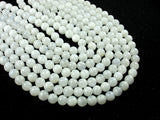 White Moonstone Beads, 6.5mm(6.8mm) Round Beads, 15.5 Inch, Full strand