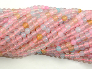 Agate Beads, 4mm(4.3mm) Round Beads, 15.5 Inch, Full strand