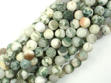 Matte Tree Agate Beads, 8mm Round Beads-BeadBasic