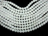 Matte White Jade Beads, 8mm (8.5 mm) Round Beads, 15.5 Inch, Full strand