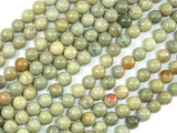 Silver Leaf Jasper Beads, 6mm Round Beads-BeadBasic