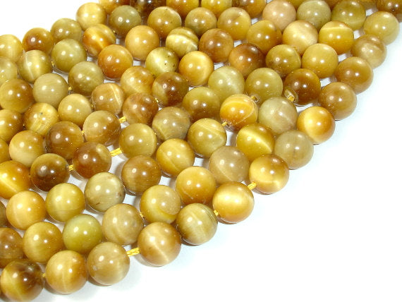 Golden Tiger Eye, 8mm Round Beads-BeadBasic