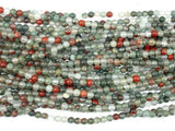African Bloodstone, 4mm (4.5 mm) Round Beads, 15.5 Inch, Full strand