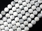 Matte White Howlite, 10mm Round Beads-BeadBasic