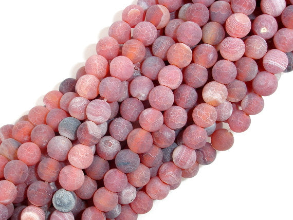 Frosted Matte Agate, 6mm Round Beads-BeadBasic