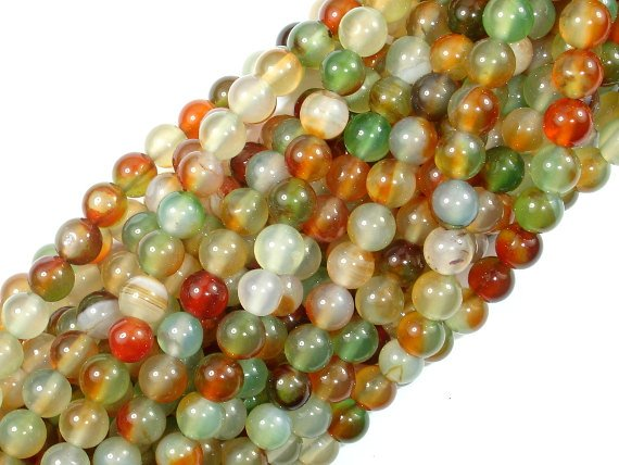 Agate Beads, 6mm Round Beads, 15 Inch, Full strand