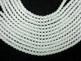 Matte Clear Quartz Beads, 6mm (6.3mm) Round Beads, 15.5 Inch, Full strand