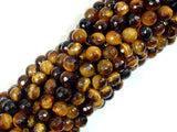Tiger Eye Beads, 6mm Faceted Round, 15.5 Inch, Full strand
