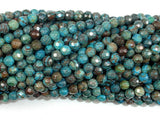 Blue Calsilica Jasper Beads, 4mm Faceted Round Beads, 15.5 Inch, Full strand