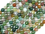 Indian Agate Beads, Fancy Jasper Beads, 6mm Faceted Round Beads-BeadBasic