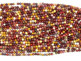Mookaite Beads, 4mm (4.5 mm) Round Beads, 15.5 Inch, Full strand