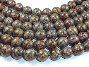 Brown Snowflake Obsidian Beads, 12mm Round Beads-BeadBasic