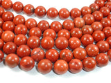Red Jasper Beads, 12mm Round Beads-BeadBasic