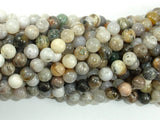 Bamboo Leaf Agate, 6mm (6.5 mm) Round Beads, 15.5 Inch, Full strand