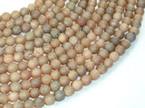 Druzy Agate Beads, Light Champagne Geode Beads, 6mm (6.5 mm) Round Beads, 15 Inch