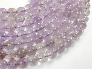 Light Amethyst, Ametrine, 10mm Round Beads-BeadBasic