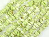 Lemon Chrysoprase Beads, Approx 4mm-10mm Chips Beads, 16 Inch, Full strand