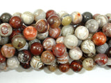 Mexican Crazy Lace Agate Beads, 8mm Round Beads-BeadBasic