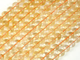Genuine Citrine Beads, 8mm(7.8mm) Round Beads, 15.5 Inch, Full strand