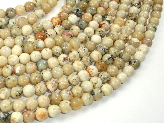 African Opal, 6mm (6.2mm) Round Beads, 15.5 Inch, Full strand