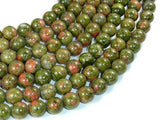 Unakite Beads, 10mm Round Beads-BeadBasic