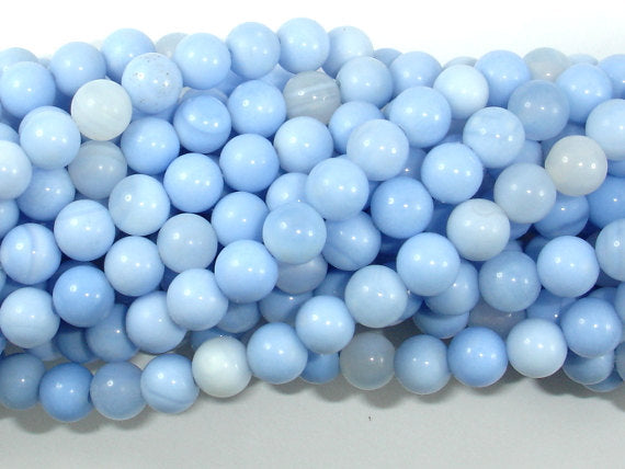 Light Blue Agate Beads, 6mm Round Beads, 15 Inch, Full strand