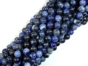 Sodalite Beads, 6mm (6.5mm) Round Beads, 15.5 Inch, Full strand