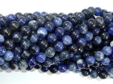 Sodalite Beads, 6mm Round Beads-BeadBasic