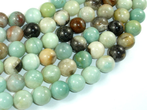 Amazonite Beads, 12mm (12.5mm) Round Beads, 15.5 Inch, Full strand