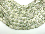 Peace Jade Beads, 13x18mm Rectangle Beads, 15.5 Inch, Full strand