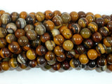 Iron Zebra Jasper Beads, 6mm Round Beads-BeadBasic