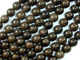 Coffee Jasper, 8mm(8.7mm) Round Beads, 15.5 Inch, Full strand