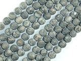 Matte Gray Picture Jasper Beads, 8mm (8.5mm) Round Beads, 15.5 Inch, Full strand