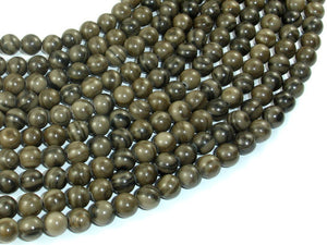 Coffee Jasper, 6mm(6.4mm) Round Beads, 15.5 Inch, Full strand