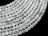 Crackle Clear Quartz Beads, 6mm Round Beads-BeadBasic