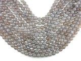Gray Agate, 10mm Round Beads-BeadBasic