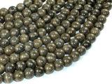 Coffee Jasper, 8mm Round Beads-BeadBasic