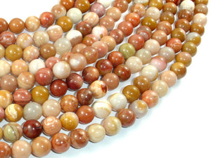 Petrified Wood, 8mm (8.5mm) Round Beads, 15.5 Inch, Full strand