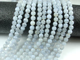 Blue Chalcedony Beads, Blue Lace Agate Beads, Round, 6mm