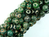 Tibetan Agate Beads, 10mm(10.5mm) Round Beads, 15 Inch, Full strand