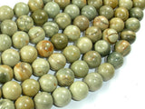 Silver Leaf Jasper Beads, 10mm Round Beads-BeadBasic